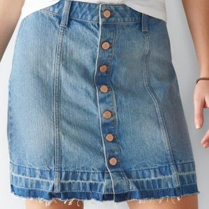Sonoma a line released hem jean skirt